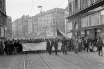 Okupace Československa 21. 8. 1968, Brno (zdroj: ceskatelevize.cz)