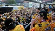 Litvínov stále na nohou, fanoušci přivítali hokejisty