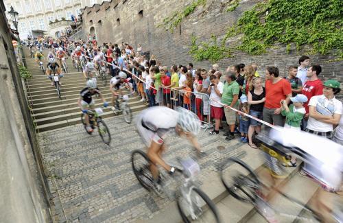 Pražské schody sjel nejrychleji Jihoafričan