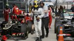 Lewis Hamilton po vítězné kvalifikaci v Číně