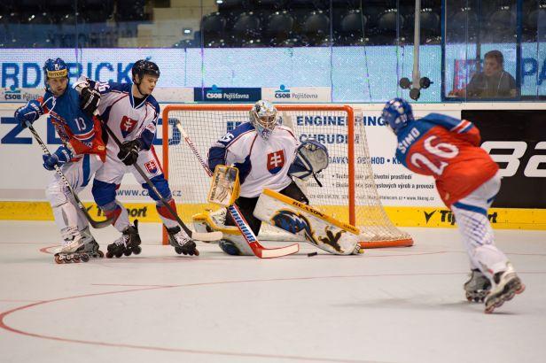 Čeští inline hokejisté na úvod domácího mistrovství přehráli Slovensko