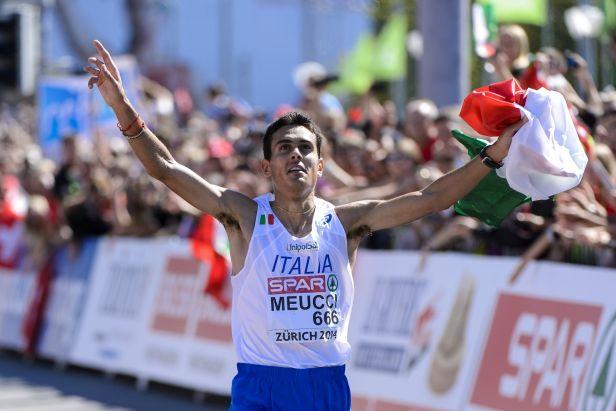 Třetí, druhý a konečně první. Ital Meucci ovládl na ME závod maratonců