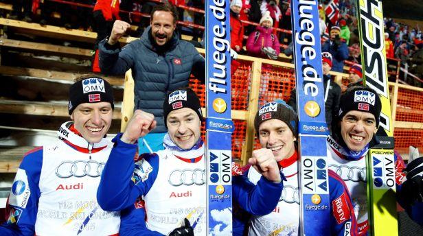 Nejlepším skokanským týmem jsou Norové, Češi osmí