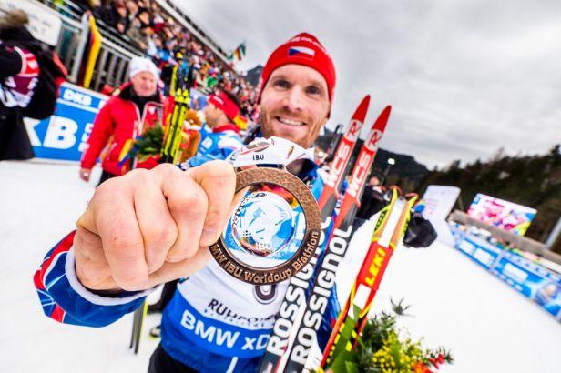 Bezchybný Šlesingr vybojoval ve stíhacím závodu třetí místo