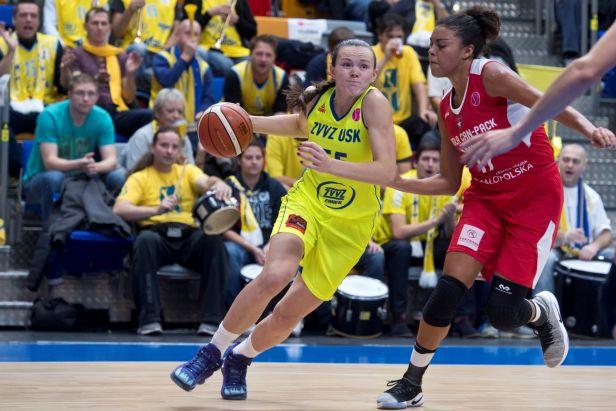 Basketbalistky USK nedaly šanci ani Krakovu a připsaly si druhou výhru