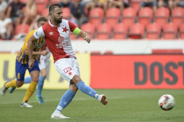 Hušbauer sestřelil nadšeně bojující Opavu, Slavia je dál stoprocentní