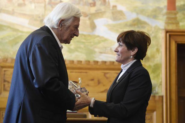 Legendární trenér Brückner obdržel cenu Evropského hnutí fair play