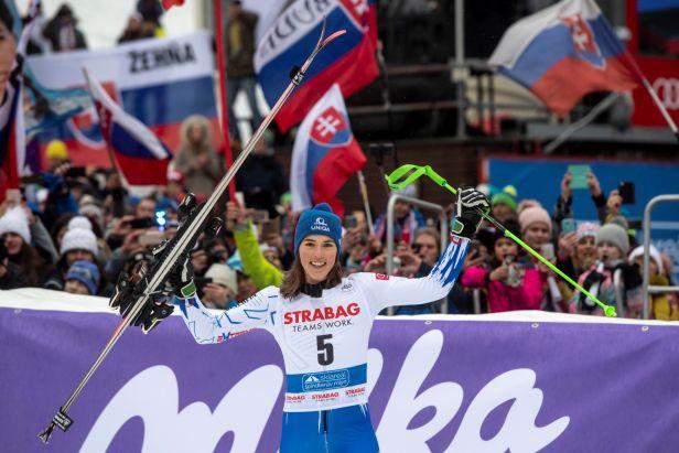 Vlhová potěšila slovenský kotel. Jsem fakt ráda, že jsem to pro lidi vyhrála, zářila po obřím slalomu