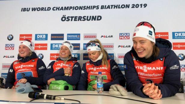 Stály nad námi vyšší síly, zářila Eckhoffová po triumfu norských biatlonistek