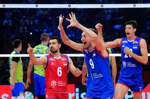 Srbští volejbalisté zastavili slovinskou jízdu turnajem a získali evropský titul