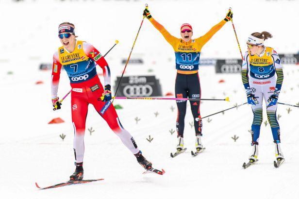 100. etapa Tour de Ski patřila Norům. Zvítězili Jacobsenová a Klaebo