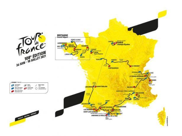 Tour 2021 odkryla karty. Dvě stoupání na Ventoux, dvě časovky a náročné Pyreneje