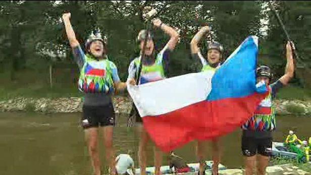 První den mistrovstí světa v raftingu ovládli Češi