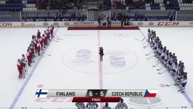 Sestřih utkání Finsko U18 - Česko U18