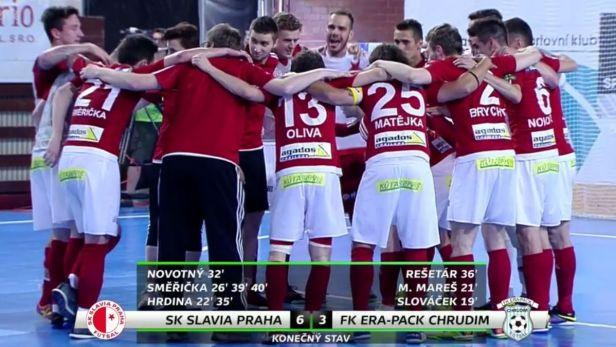 Slavia poprvé v historii zdolala Chrudim a srovnala finálovou sérii