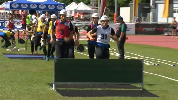 Češi si na světové olympiádě hasičů otestovali před ostrým startem trať