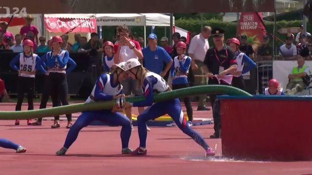 Česká reprezentace hasičů zářila na olympiádě ve Villachu