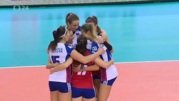 Volejbalistky po slibném úvodu podlehly v osmifinále Bělorusku