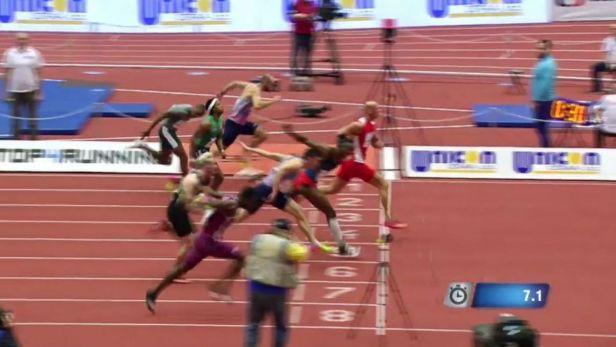 Vítězství a zranění Svobody v závodu na 60 metrů překážek