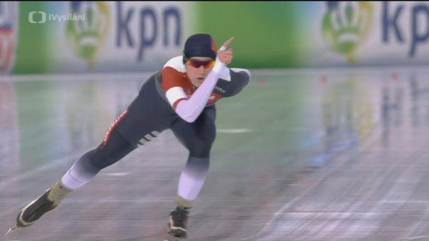 Jízda Natálie Kerschbaummayr na trati 1500 metrů