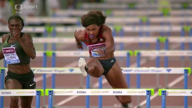 Běh žen na 100 m překážek v Římě