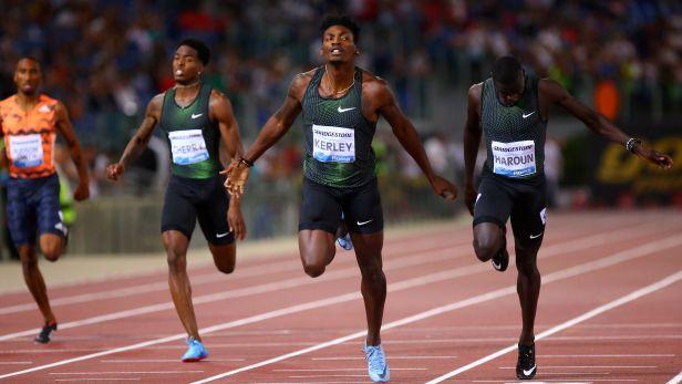 Běh mužů na 400 m v Římě