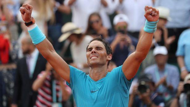 Závěr finále French Open, Nadalova radost a ohlasy