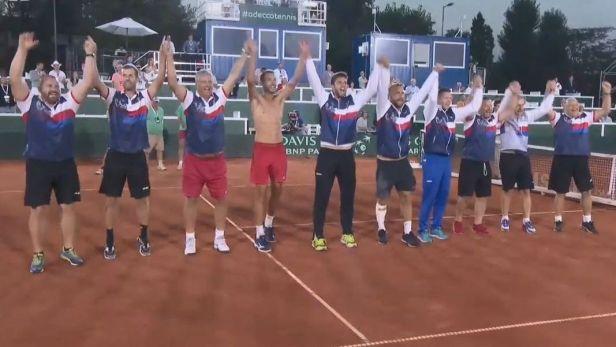 Čeští tenisté porazili Maďary 3:2 a udrželi se mezi nasazenými