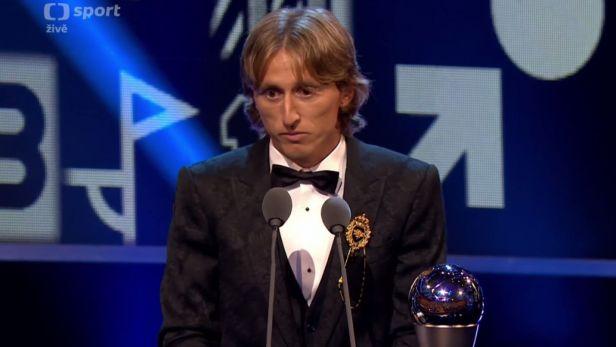 Emotivní řeč nejlepšího fotbalisty světa podle FIFA Luky Modriče