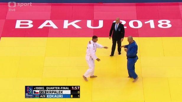 Krpálkovo čtvrtfinále MS proti Kokaurimu