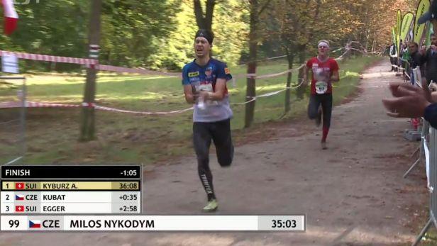 Druhý triumf reprezentace v orientačním běhu přidal Nykodým
