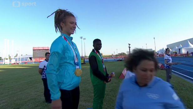 Atletka Malíková potvrdila na olympiádě mládeže roli favoritky a má zlato
