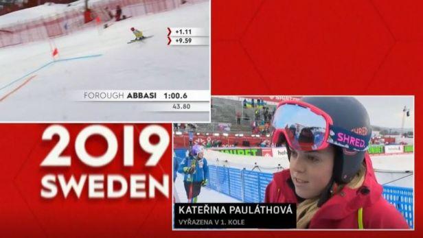 Ohlasy českých reprezentantek Capové a Pauláthové po prvním kole obřího slalomu