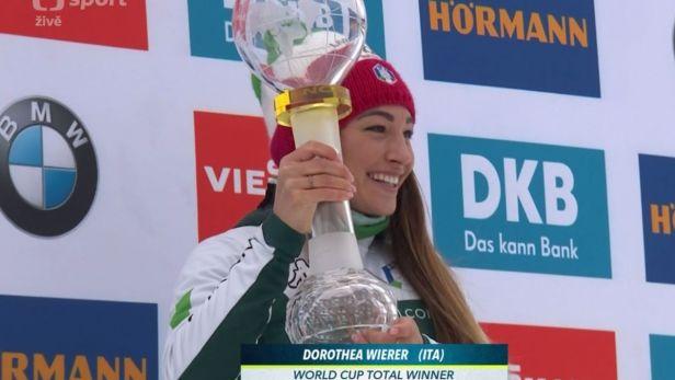 Dorothea Wiererová převzala velký křišťálový glóbus za triumf v SP