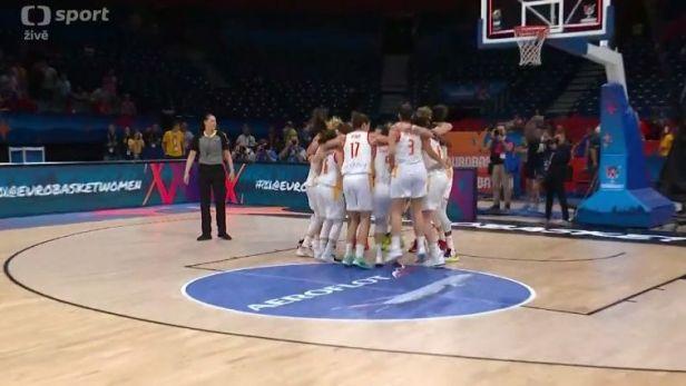 Španělské basketbalistky porazily Francii a na ME obhájily titul