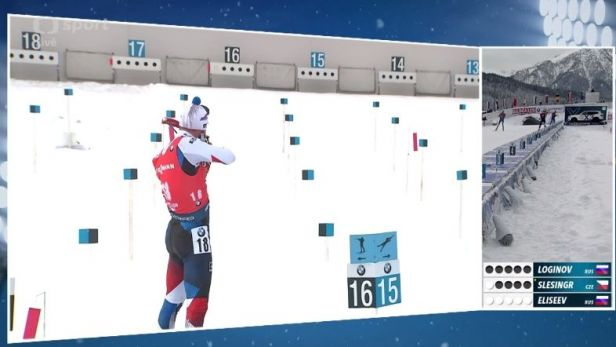 Sestřih sprintu biatlonistů v Hochfilzenu