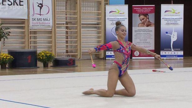 Štěpánková si podmanila MČR v moderní gymnastice