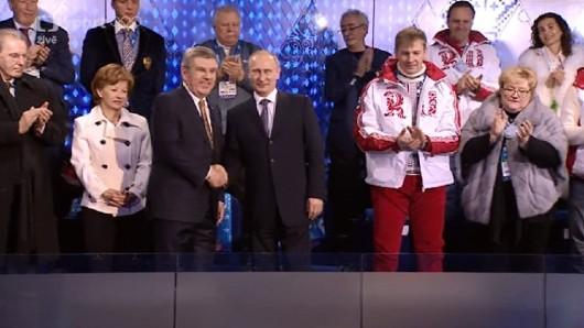 Thomas Bach a Vladimir Putin