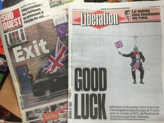 Reakce francouzského tisku na brexit
