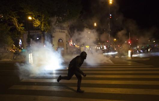 Nepokoje v centru Paříže