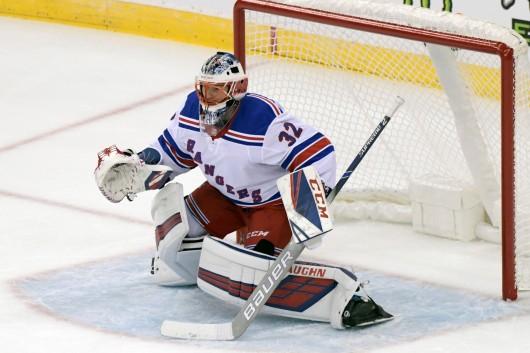 Brankář Marek Mazanec ještě v dresu New York Rangers