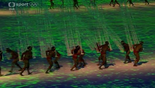 Úvodní sekvence při zahájení LOH v Riu