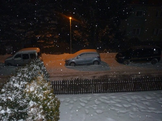 Nový sníh v Jirkově na Chomutovsku Zdroj: Facebook Počasí ČT / Roman Závora